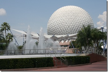 The iconic Epcot golf ball