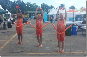 Your standard kazoo-playing land-based synchronized swimmers
