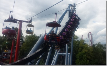 A couple of coasters from the gondola. Ryan and Alison are in car #13